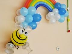 Радуга и пчелка